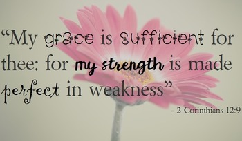 "{FREEBIE}""My Grace is Sufficient for Thee"" Poster"