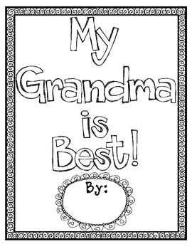 My Grandma is Best {Opinion Writing & Graphic Organizer} FREEBIE