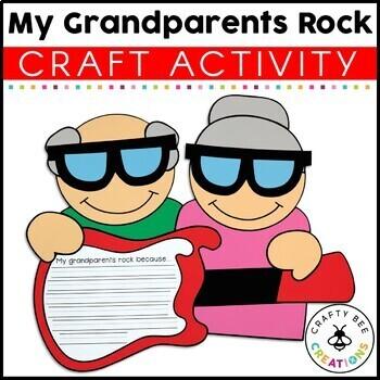 """My Grandparents Rock!"" A Grandparent's Day Craftivity"