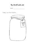 My Gratitude Jar (Mindfulness/thanksgiving/thankful/self-compassion/kindness)