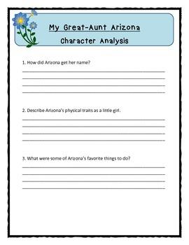 My Great-Aunt Arizona - Character Analysis