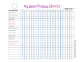 My Great Practice Choices Chart