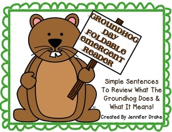 My Groundhog Day Book  ~Foldable Emergent Reader~