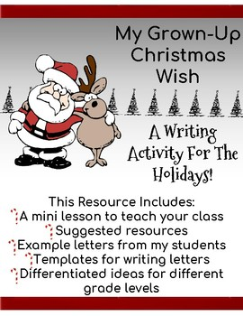 My Grown-up Christmas Wish: A Writing Activity for the Holidays!
