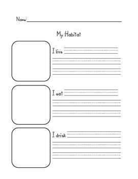 """My Habitat"" Worksheet"