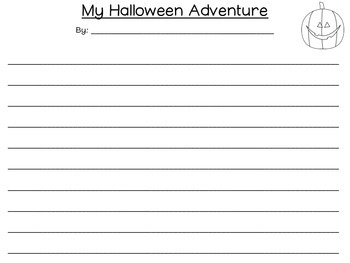 My Halloween Adventure Writing FREEBIE Halloween Bash 2014