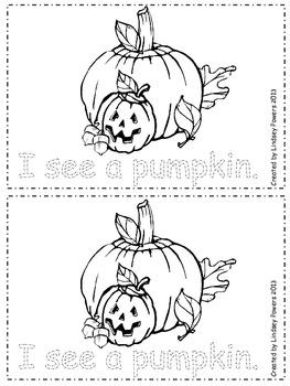 My Halloween Book - Emergent Reader for Kindergarten