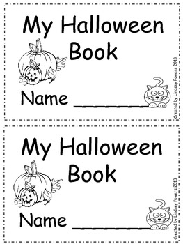 My Halloween Book - Emergent Reader for Kindergarten