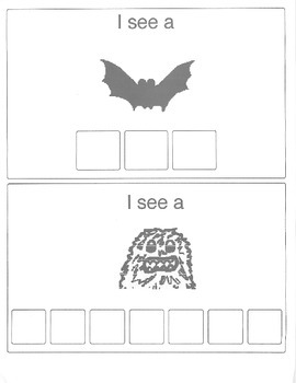 My Halloween Book-Spelling Words, Matching