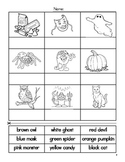 My Halloween Color Booklet