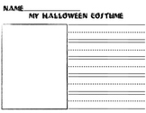 My Halloween Costume Drawing and Writing