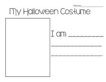 My Halloween Costume Writing