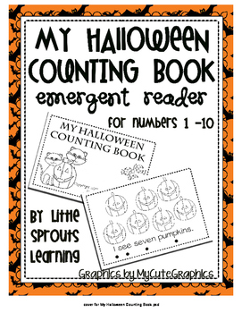 Emergent Reader My Halloween Counting Book (Freebie)