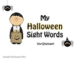 My Halloween Sight Words for Centers and Word Work