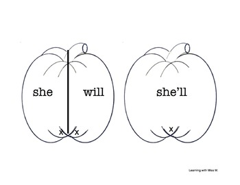 My Halloween Will Contractions