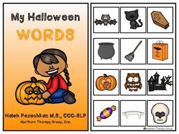 My Halloween Words Interactive Book