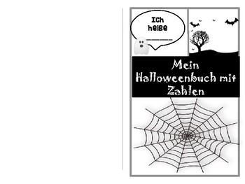 My Halloween book with German numbers