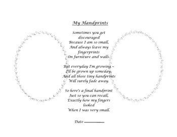 My Handprints & Footprints Poems