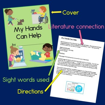 My Hands Can Help Class Book with Sight Words