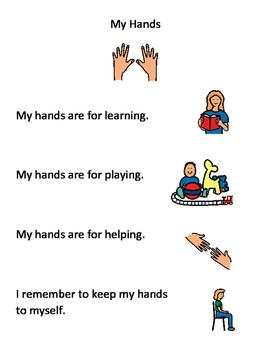 Hands Are Not For Hitting Teaching Resources Teachers Pay Teachers Coloring Pages About Not Hitting My Hands Social Story My Hands Social Story