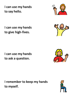 My Hands Social Story