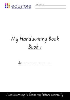 My Handwriting Book - Lower case letter formation