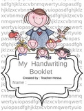 My Handwriting Booklet - Editable