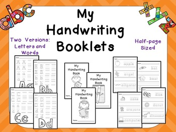 My Handwriting Booklets for Preschool or Kindergarten