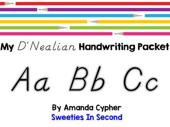 My D'Nealian Handwriting Packet
