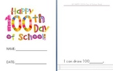 My Happy 100th Day of School Emergent Reader Book