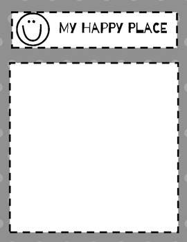 my happy place worksheet by cheerful counseling tpt. Black Bedroom Furniture Sets. Home Design Ideas