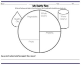 Free 4th grade health worksheets resources lesson plans my healthy plate blank template pronofoot35fo Choice Image