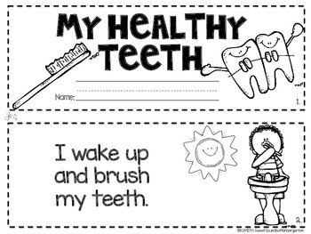 My Healthy Teeth! A Dental Health Emergent Reader FREEBIE!