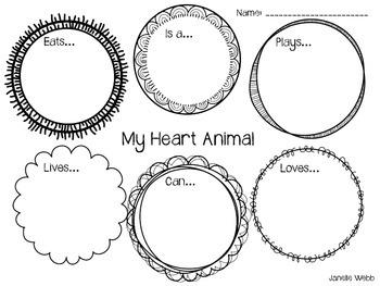 My Heart Animal Valentine's Day!