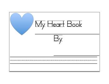 My Heart Book for Transitional Kindergarten, Developmental, or Jr Kinder