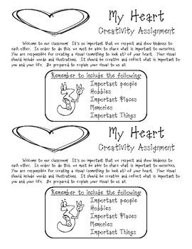 My Heart Creativity Assignment