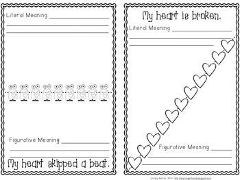 Valentine's Day Idioms Printable MiniBook