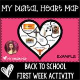 My Heart Map | Heart Map | Digital Heart Map | Writing Bra
