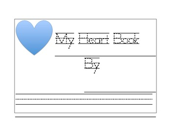 My Heart Preposition Book for Kindergarten or First Grade