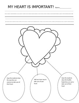 My Heart is Important Anchor Chart