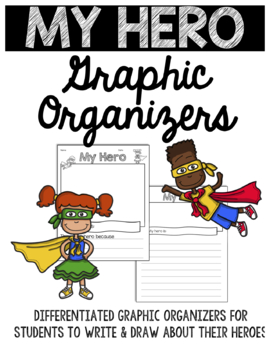 Hero Differentiated Writing Prompts, Write and Draw