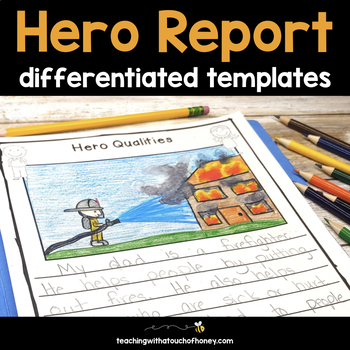 my hero writing project report writing templates tpt