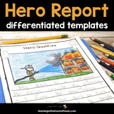 Hero Writing Activity - My Hero Writing Project - Report W
