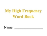 My High Frequency Word Book (Fry List)