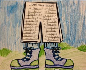 My  Hiking  Leadership Superpower: A Goal Setting Writing Craftivity