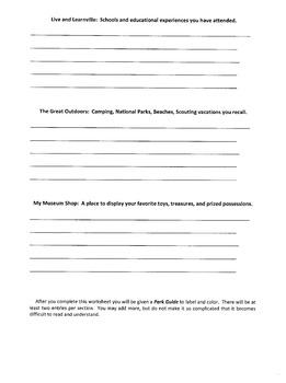 My Historic Village Brainstorming Worksheet