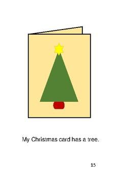 'My Holiday Cards' Volume 2 PreReader by Carol Lee Brunk Comprehension Book