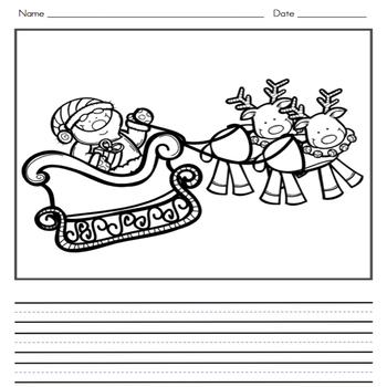 Christmas Writing Journal and Word Wall Cards