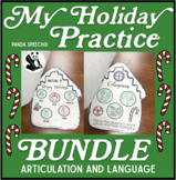 My Holiday Speech Therapy Practice Book BUNDLE