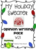 My Holiday Sweater Opinion Writing W.2.1